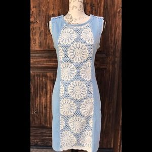 Desigual Denim Lace Dress